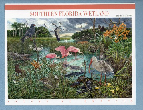 SOUTHERN FLORIDA WETLAND SHEET OF TEN 39 CENT STAMPS - Scott 4099