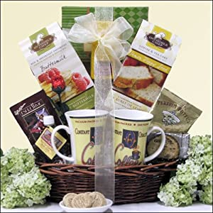 Breakfast For Two: Gourmet Wedding Anniversary Gift Basket
