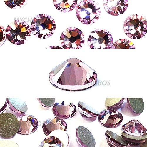 LIGHT AMETHYST (212) purple violet Swarovski NEW 2088 XIRIUS Rose 34ss 7mm flatback No-Hotfix rhinestones ss34 18 pcs (1/8 gross) *FREE Shipping from Mychobos (Crystal-Wholesale)*