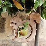 Squirrel Wooden Bird Apple Feeder H15...