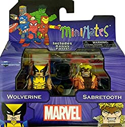 Marvel Minimates Greatest Hits Wave 1 Wolverine & Sabertooth 2 Pack