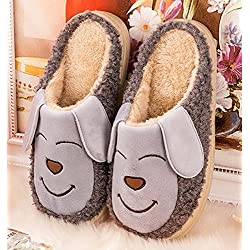 9358af727d1b Cute puppy dog kid Slippers Autumn and winter thick home warm cotton  slippers  plush children