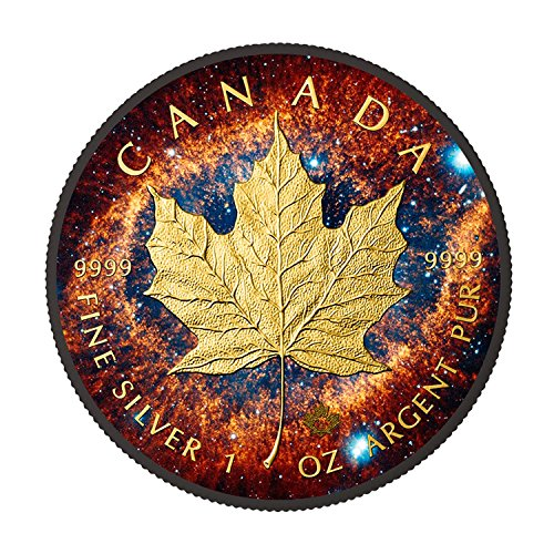 2016 Helix Nebula Canadian Maple Leaf 1oz silver coin