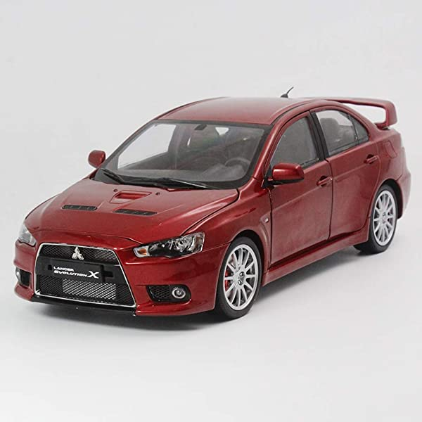 PENGJIE-Model 1:18 Mitsubishi Wing God Lancer EVO 10 X BBS Ten Generation Car Model Birthday Gift Collection Ornament (Color : Red) (Color: Red)