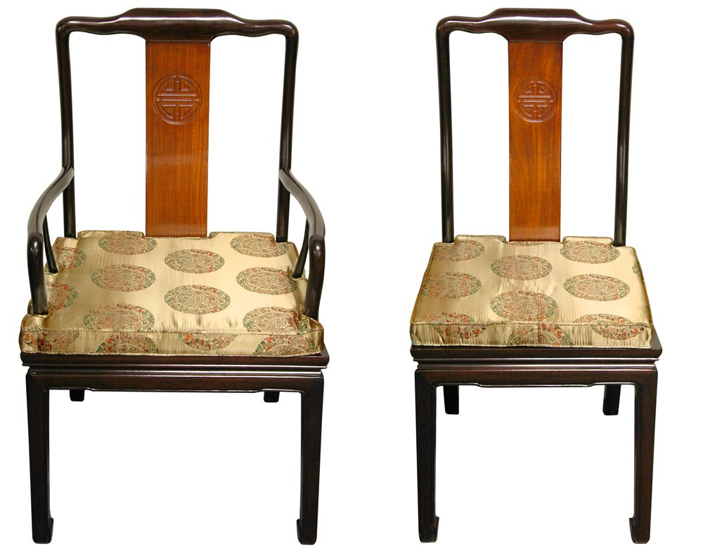 oriental furniture rosewood dining room set two tone
