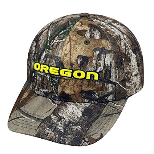 "Oregon Ducks NCAA Top of the World ""Xtra"" RealTree Camo Memory Fit Hat Cappello"