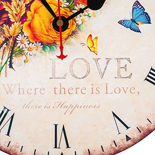 "KI Store Silent Wall Clock Decorative, Premium Vintage Wall Clocks 12"" 2"