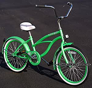 Amazoncom  J Bikes 20quot Beach Cruiser Bicycle Micargi Jetta Girls Kids