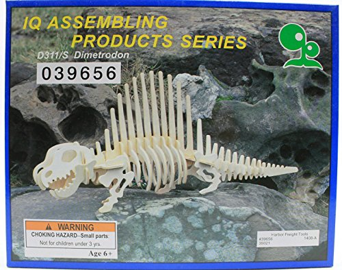 IQ Assembling Products Series Balsa Wood 3D Puzzle Dimetrodon