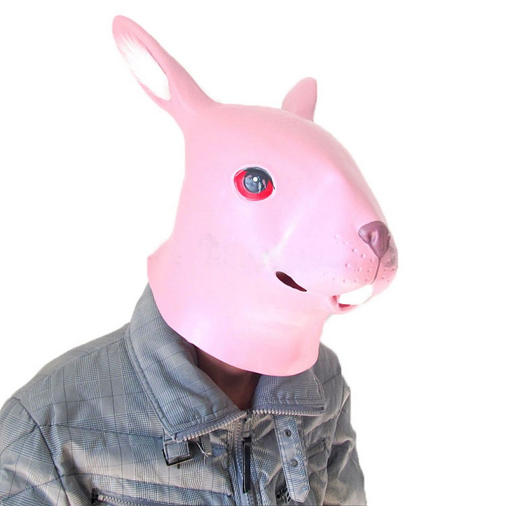 Animal Caps Partying Funny Mask-Cosplay--Pink Rabbit