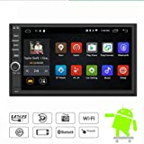 Yody Android 7.1 Double Din Car Stereo Radio 7 Inch Touch Screen in Dash GPS Navigation Support WiFi Bluetooth Mirror Link SWC OBD with Free Backup Camera