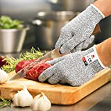 NoCry Cut Resistant Gloves - High Performance Level 5 Protection, Food Grade. Size Medium. Free Ebook Included!