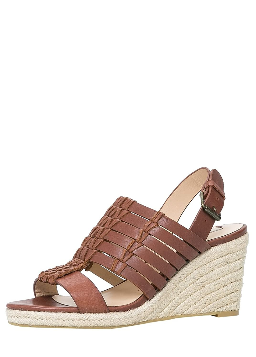 Violeta By Mango Women's Leather Braided Sandal violeta by mango women s lapel knit jacket