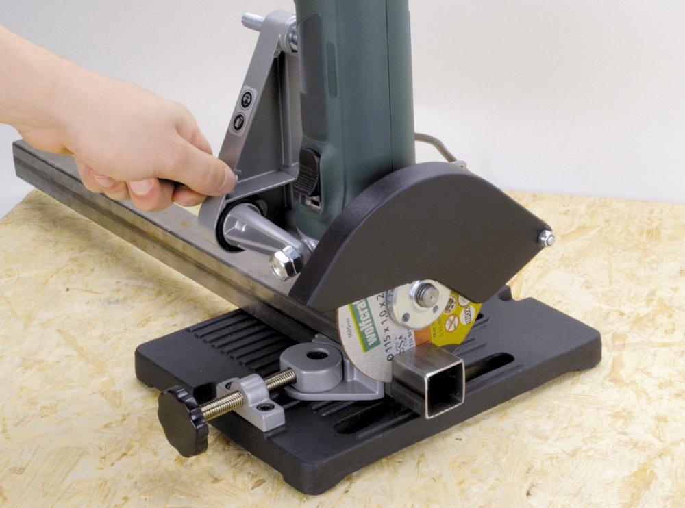 Soporte radial amoladora cortar con seguridad madera metal for Cortar madera con radial