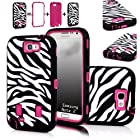 XYUN Zebra Stripes Defender Hard Case Camo Cover for Samsung Galaxy N7100 Note 2 Ii (Rose)