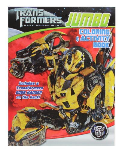Transformers Dark of the Moon Coloring & Activity Books (4 Book Set)