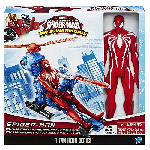 Marvel-Ultimate-Spider-Man-Web-Warriors-Titan-Hero-Series-12-Inch-Spider-Man-with-Web-Copter