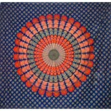 Blue Traditional Indian Design Mandala Bed Spread,hippie,boho.Double Size Thr... - B01BLHLKHC