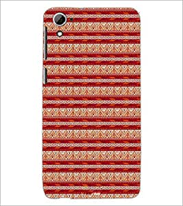 PrintDhaba Tribal pattern D-1984 Back Case Cover for HTC DESIRE 826 (Multi-Coloured)