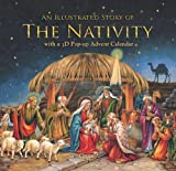 Entertaining with Caspari Christmas Advent Calendar and Story Book, Nativity, 1-Count
