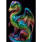 USHOT 5D Dragon Embroidery Paintings Rhinestone Pasted DIY Diamond Painting (Color: Multicolor, Tamaño: One Size)