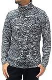 (ルイシャブロン) Louis Chavlon ニット メンズ タートルネック セーター 杢 リブ編み 4color M ブラック