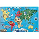 "Melissa & Doug World Map 33 pcs Floor Puzzle, 2""x3""ft"