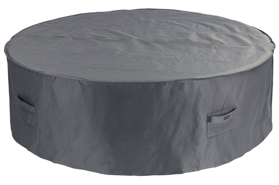 Patio Watcher Patio Furniture Cover Waterproof Outdoor Table Cover Bistro Small Round Furniture Set Cover 60 Inches(Grey)