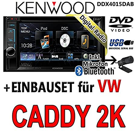 Volkswagen caddy 2-k dDX4015DAB kenwood-cD uSB autoradio multimédia 2 dIN avec kit de montage