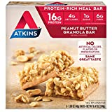 Atkins Protein-Rich Meal Bar, Peanut Butter Granola, 5 Count, Package may vary