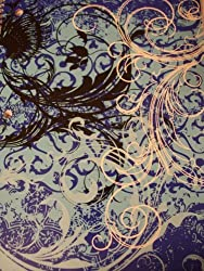 Staples Wide Ruled Sweetheart Spiral Notebook Swirls On Blue (70 Sheets, 140 Pages)