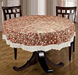 Bianca Velvet PVC 4 Seater Round Table Cloth - Multicolour
