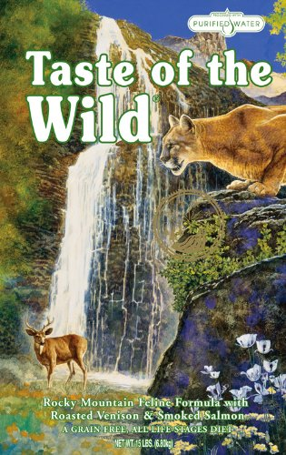 Taste of the Wild Dry Cat Food, Rocky Mountain Feline Formula with Roasted Venison and Smoked Salmon, 15-Pound Bag