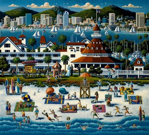 Cheap Dowdle Folk Art San Diego Dowdle Folk Art 1000 Piece Puzzle (B004X2HD2O)