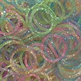 Cheri-1800 Loom Bandz Elastiques Rainbow Colours - Colourful S-attaches 75 Clips