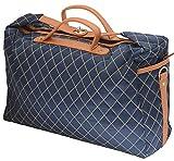 男女兼用 おしゃれなデザインバッグ 2way 海外セレブ風 ショルダーバッグ キルティング ボストンバッグ ビジネスバッグ トラベルバッグ メンズ 旅行用 鞄 旅行 カバン 出張 カジュアル おしゃれ 1泊2日 大容量 ユニセックス (ネイビー)