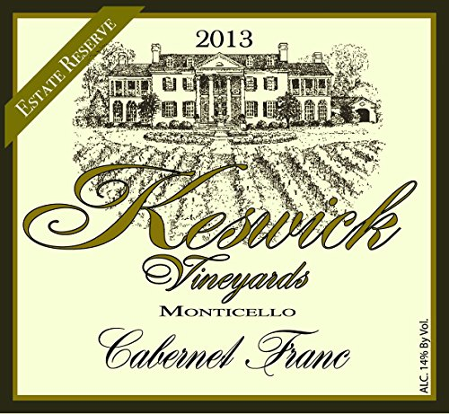 2013 Keswick Vineyards Cabernet Franc Reserve 750 Ml