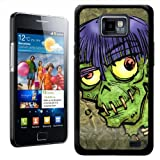 Fancy A Snuggle Zombie Monster With Worms In Head Halloween Design Hard Case Clip On Back Cover for Samsung Galaxy S2 i9100
