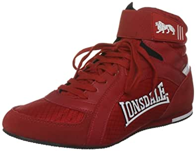 LONSDALE Swift Adult Boxing Boots, Red, US12
