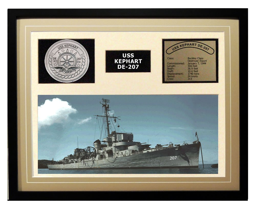Navy Emporium USS Kephart DE 207 Framed Navy Ship Display перчатки eleganzza is01433 navy