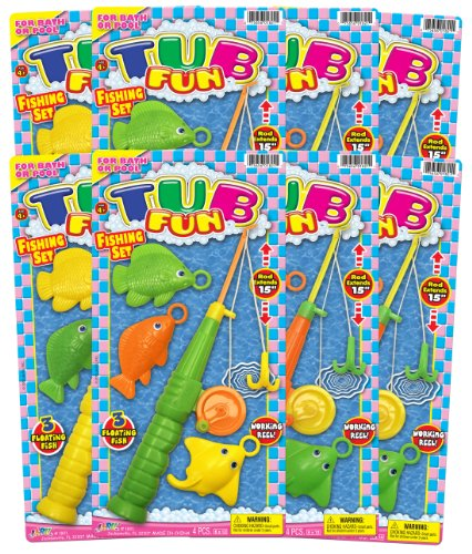 Ja-Ru Tub Fun Fishing Set Party Favor Bundle Pack front-683876