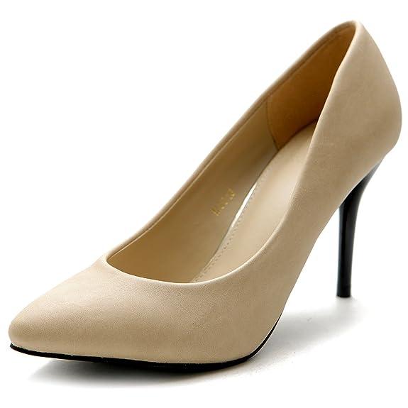 Ollio Women's Shoe Pointed Toe Classic High Heel Dress Pump