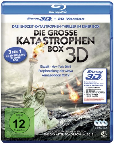The Great Disasters - 3-Disc Set ( Doomsday Prophecy / Earth's Final Hours / 2012: Ice Age ) (3D & 2D) [ Blu-Ray, Reg.A/B/C Import - Germany ]
