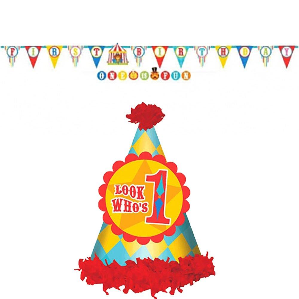 Boys Circus First Birthday Party Supplies Birthday Wikii