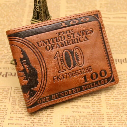US Dollar Bill Leather Wallet