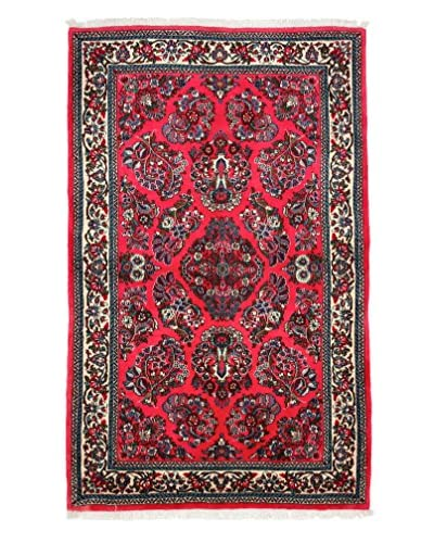 Solo Rugs Persian One-of-a-Kind Rug, Pink, 4' 2' x 7'