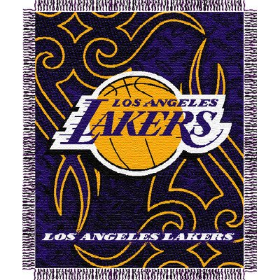 "NBA Los Angeles Lakers 48"" x 60"" Jacquard Woven Tattoo Blanket Throw at Amazon.com"