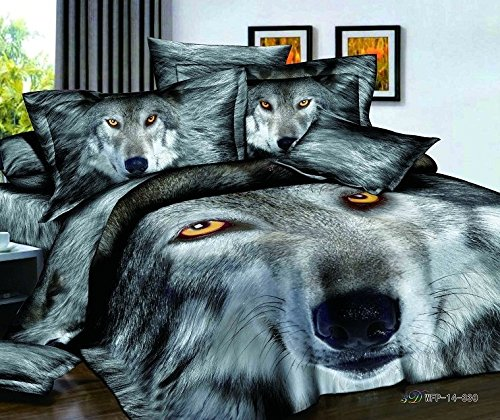FADFAY Home Textile 3D Tiger Bedding Sets Wolf Bedding Sets Mens Bedding Set  Queen 4Pcs. Bedding Sets for Men   WebNuggetz com