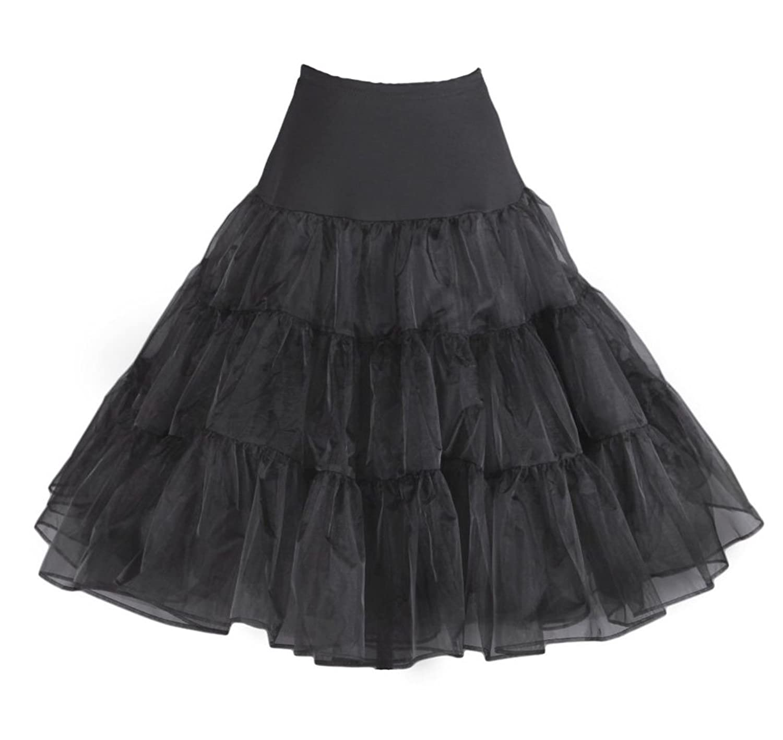 LUYAN 50er 60er Jahre Petticoat Tüllrock Rockabilly, 27″ Length Net Underskirt online bestellen