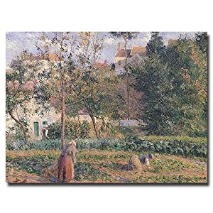 Vegetable Garden, Pontoise, 1879 by Camille Pissarro
